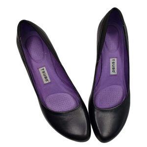 Tsubo   Retro Black Pointed Toe Comfort Heels 8.5